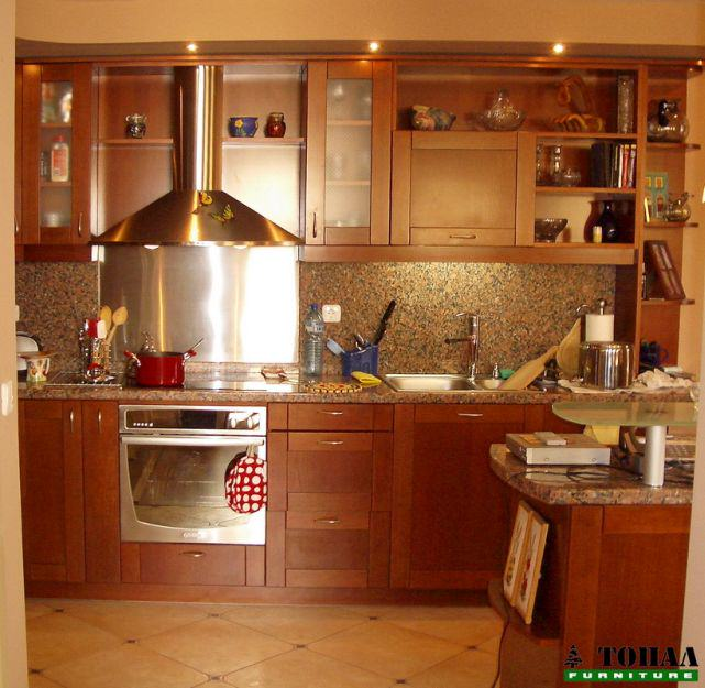 кухня с мдф табли цвят череша