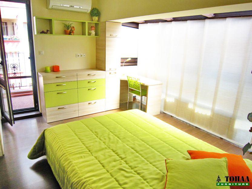 зелени Дизайнерска детска стая