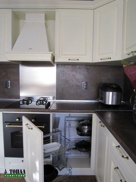 Кухненски изтеглящ се ъглов механизъм за глух шкаф