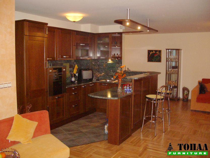 МДФ Кухня с зелен плот