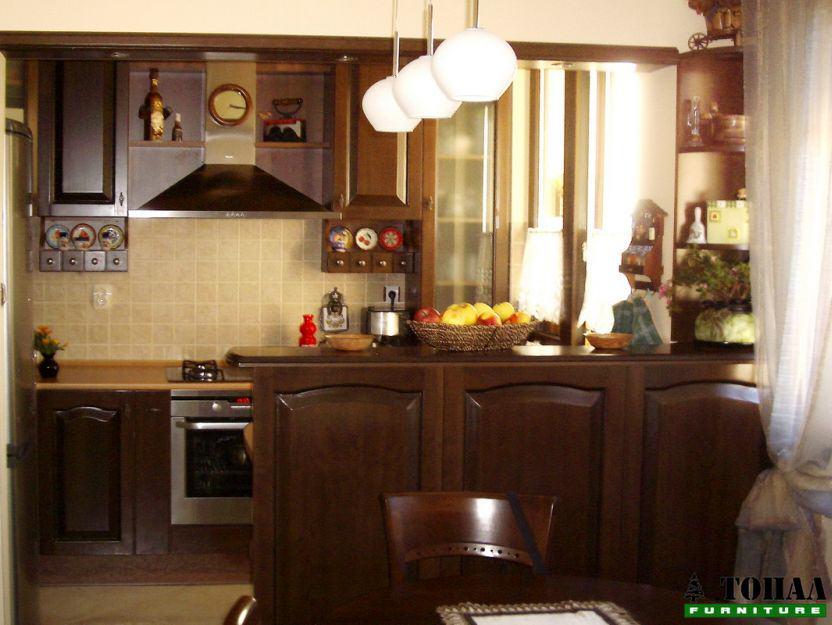 мдф кухня с дъб фурнир