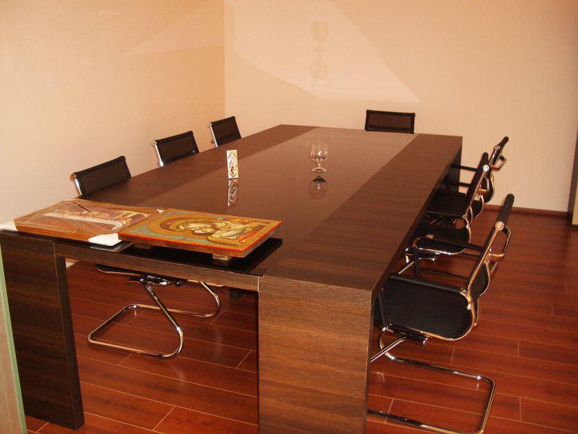 Офис заседателна маса тъмен орех