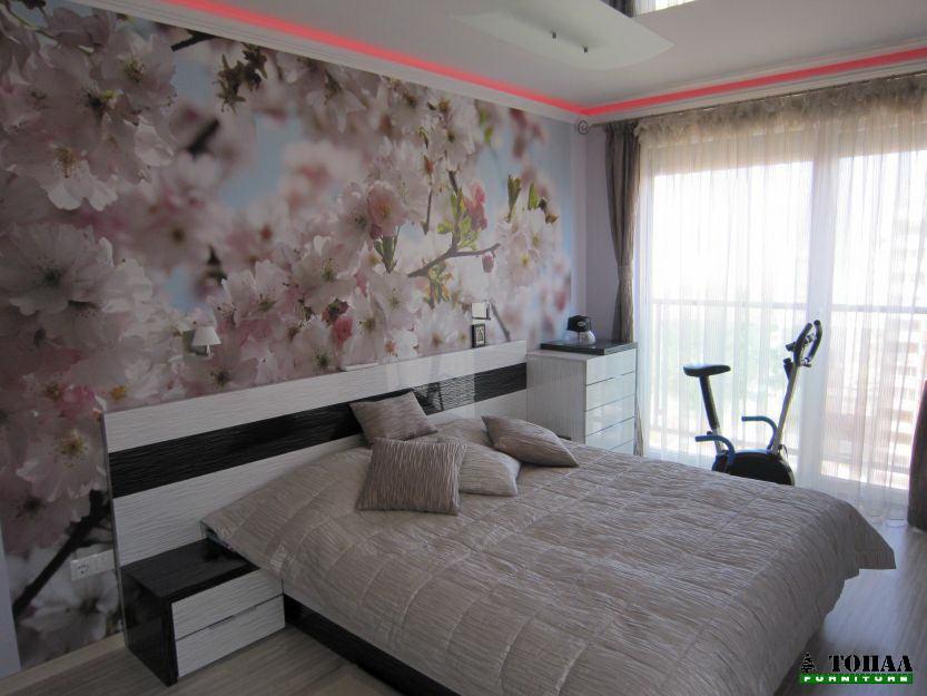 Италиански дизайн на спалня с фототапет