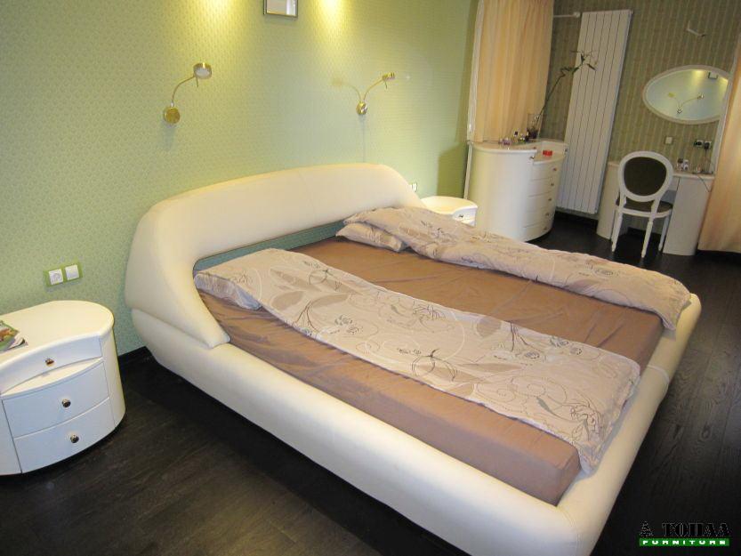 Дизайнерска кожена спалня - производство на спално обзавеждане